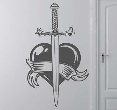 Herz und Schwert Aufkleber