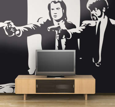 Vinilo decorativo escena Pulp Fiction