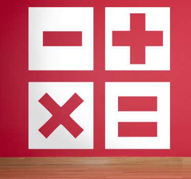 Sticker calculator symbolen kinderen