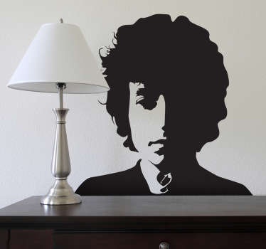Sticker mural portrait Bob Dylan