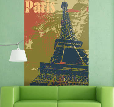 Naklejka dekoracyjna plakat Paryż