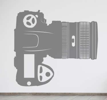Sticker digitale camera met grote lens