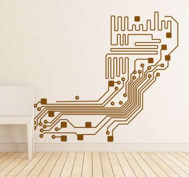 Adhesivo decorativo circuito electrónico