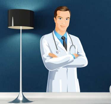Naklejka szczegóły lekarza