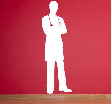 Sticker decorativo silhouette dottore