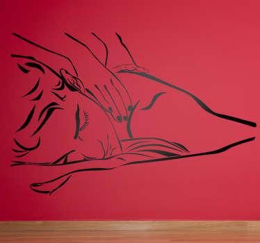 Vinilo decorativo dibujo linea masaje