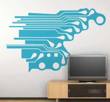 Sticker decorativo circuito elettronico 2