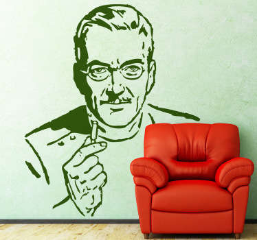 Wall Stickers - Illustration of a mature doctor. Ideal for health care businesses.