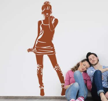 Sticker silhouette meisje