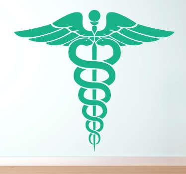 Caduceus Health Symbol Wall Sticker