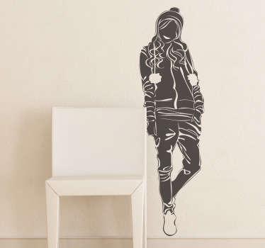 Sticker mural modèle manteau