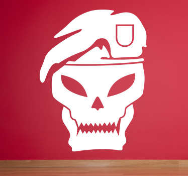 Black Ops video game wall sticker decoration for video game lovers. It is available in any required size and it is self adhesive.