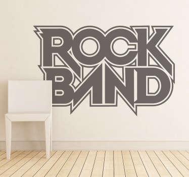 Vinilo decorativo logo Rock Band