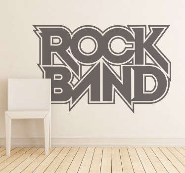 Sticker jeu logo Rock Band