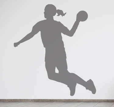 Handball Player Silhouette Decal
