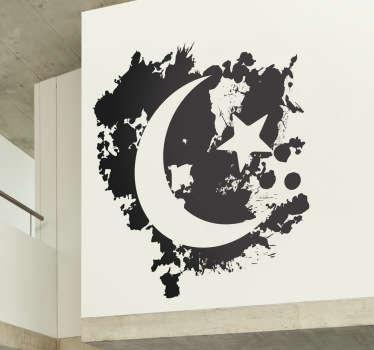 Half Moon & Stars Wall Sticker