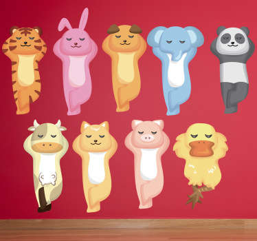 Sticker infantil animales descansando