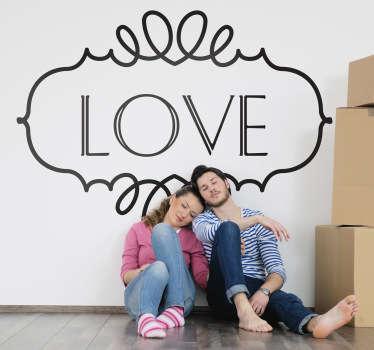 Sticker encadré love