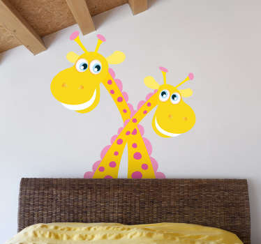 Crisscrossed Giraffes Kids Sticker