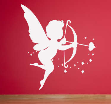 Cupid Angel Silhouette Sticker