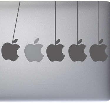 Naklejka na laptop jabłka