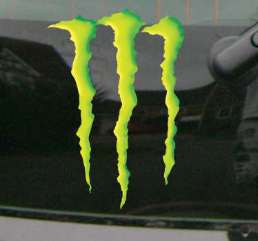 Sticker decorativo logo Monster