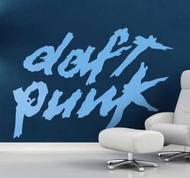 Een leuke muursticker voor de fans van dit bekende duo uit de electronische muziek scene, Daft Punk.