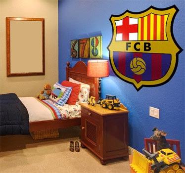 Adesivo murale stemma FC Barcelona a colori