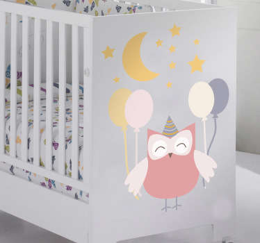 Kids Owl Party Kids Decal