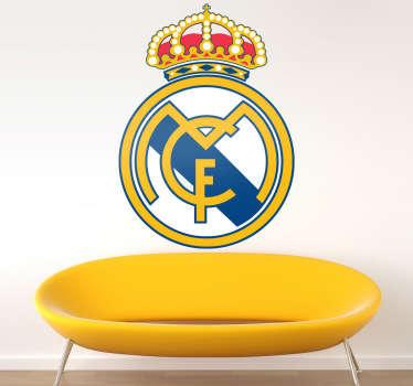 Adesivo murale stemma Real Madrid a colori