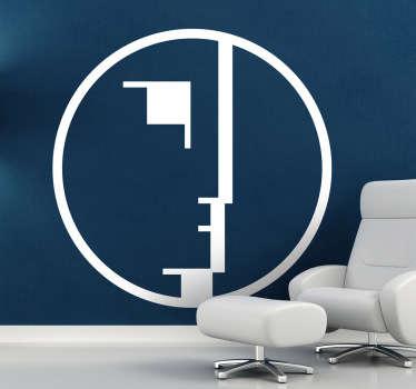 Sticker mural logo Bauhaus