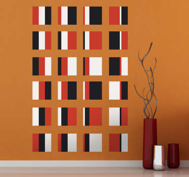 Bauhaus Squares Art Wall Sticker