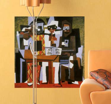 Sticker decorativo tre musici Picasso
