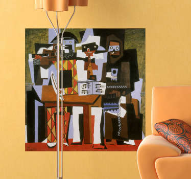 Sticker mural tableau cubisme Picasso