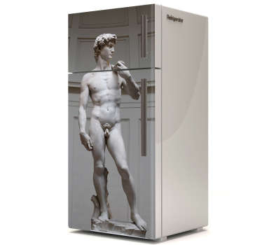 Decorate your cabinets , refrigerators or anything similar with the fridge sticker representing David Michelangelo .