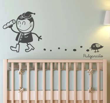 Children fairy tale drawing wall sticker decoration foe children bedroom space. The product is available in any required size.