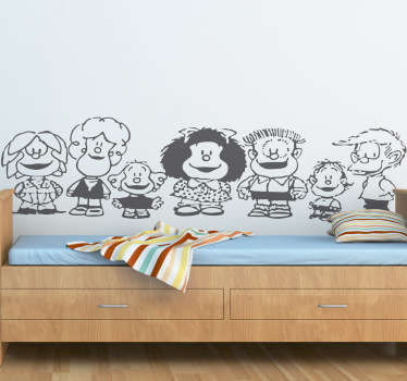Mafalda Characters Wall Sticker