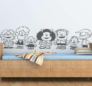Naklejka dekoracyjna postacie Mafalda