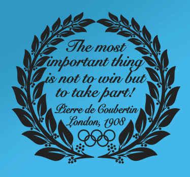 Olympia Coubertin Zitat Aufkleber