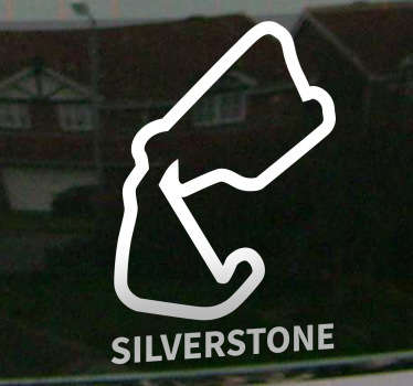 Naklejka tor wyściowy Silverstone