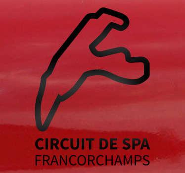 Sticker circuit SPA Francorchamps