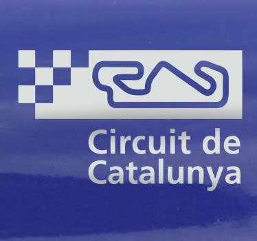 Sticker decorativo circuito di Catalogna