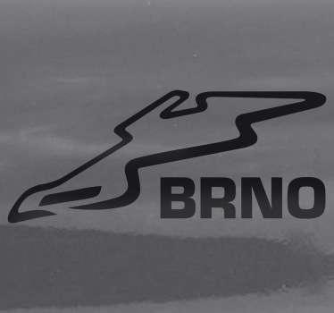 Sticker decorativo circuito Brno