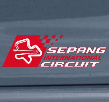 Adhesivo decorativo circuito Sepang