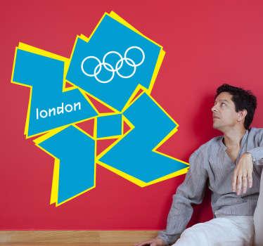 Vinilo decorativo con el logotipo de las Olimpiadas de Londres 2012. Un logo identificativo de los terceros juegos olímpicos que organiza la ciudad de Londres durante el verano de 2012.