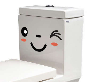Sticker with a winking face