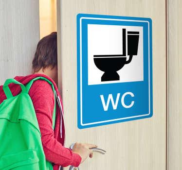 Autocolante sinalização do WC