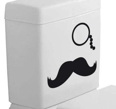 Vinil decorativo bigode  e monóculo