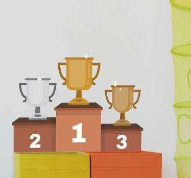 Vinilo decorativo podium olímpico
