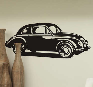 Naklejka vintage auto